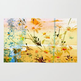 flowers at the beach Rug