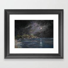 Falling Star Framed Art Print