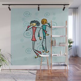 Broken Lovers Wall Mural