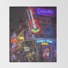 Nights in Nashville Throw Blanket