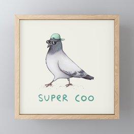 Super Coo Framed Mini Art Print
