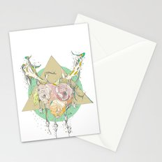 shiny white teeth Stationery Cards