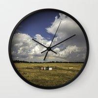 oklahoma Wall Clocks featuring Oklahoma by Tanner Albert