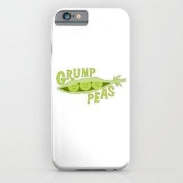 Grumpy Peas Vegetable Pun iPhone Case