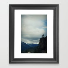 Dirtyface Mountain Framed Art Print