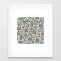 hexagon Framed Art Prints featuring Hexagon by Jerod Barker