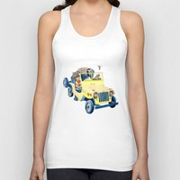 jeep Tank Tops featuring Animal Jeep by Claire Sianna
