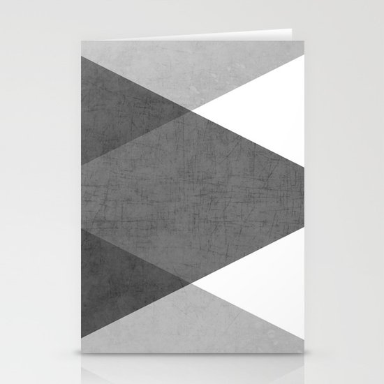 black and white triangles Stationery Cards