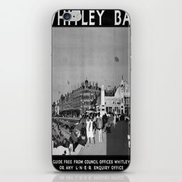 Affiche noir Whitley Bay poster iPhone Skin