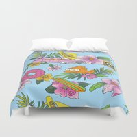 skateboard Duvet Covers featuring Scenic Springfield  by Josh Ln