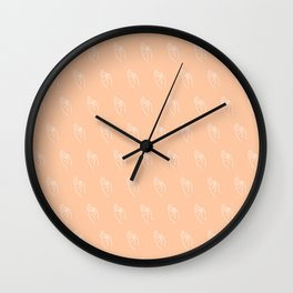 F ((melon)) Wall Clock