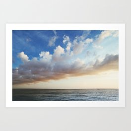 clouds roll in Art Print