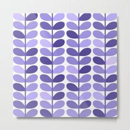Leaf Design Lavender Ultraviolet Metal Print