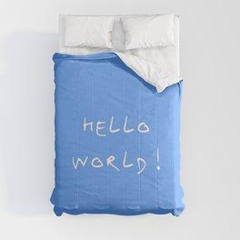 Hello world - blue Comforters