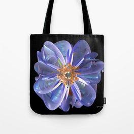 Purple & Gold Flower Tote Bag