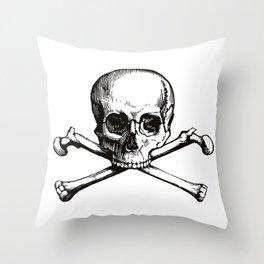 Skull and Crossbones   Jolly Roger Throw Pillow