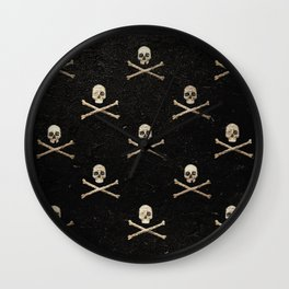 Skulls & Crossbones - Square Wall Clock