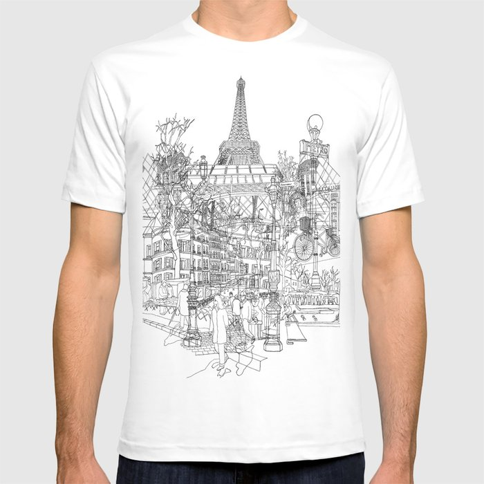 Paris! B&W T-shirt