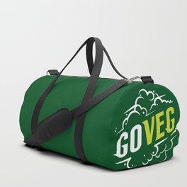 Go Veg sticker Duffle Bag