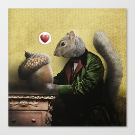 Mr. Squirrel Loves His Acorn! Canvas Print