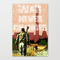 fallout 3 Canvas Prints featuring Fallout 3 by Dayle Kornely