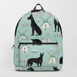 Great Dane windmills cute custom pet portrait dog lover dog breeds great danes Backpack