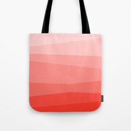 Diagonal Living Coral Gradient Tote Bag