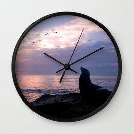 La Jolla Sea Lion Wall Clock