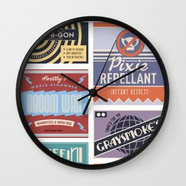 Wizarding Labels Wall Clock