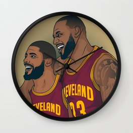 Lebron and Kyrie Wall Clock