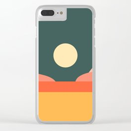 Geometric Landscape 14 Clear iPhone Case