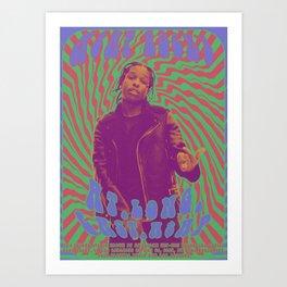 Psychodelic Hip-Hop Poster Series / A$AP Rocky Art Print