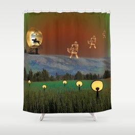 Visitation - A Lampscape Shower Curtain