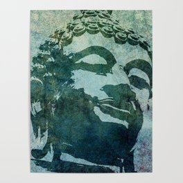 Tinted Texture Buddha I Poster