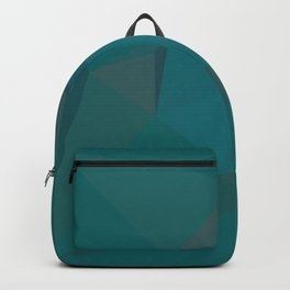 Teal Blue Geometric - Abstract Art by Fluid Nature Backpack