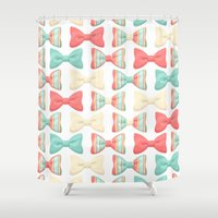 bows Shower Curtains featuring bows by melazerg