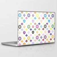 teen wolf Laptop & iPad Skins featuring Teen Wolf symbols pattern by Indy