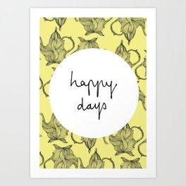 Happiest of Days Art Print