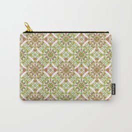 Colorful Stylized Floral Boho Carry-All Pouch