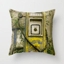Avery Hardoll Petrol Pump Throw Pillow