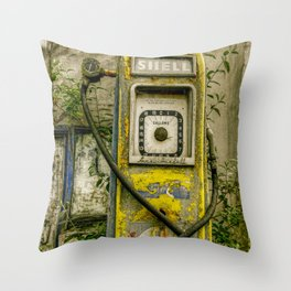 Avery Hardoll Petrol Pump Throw Pillow