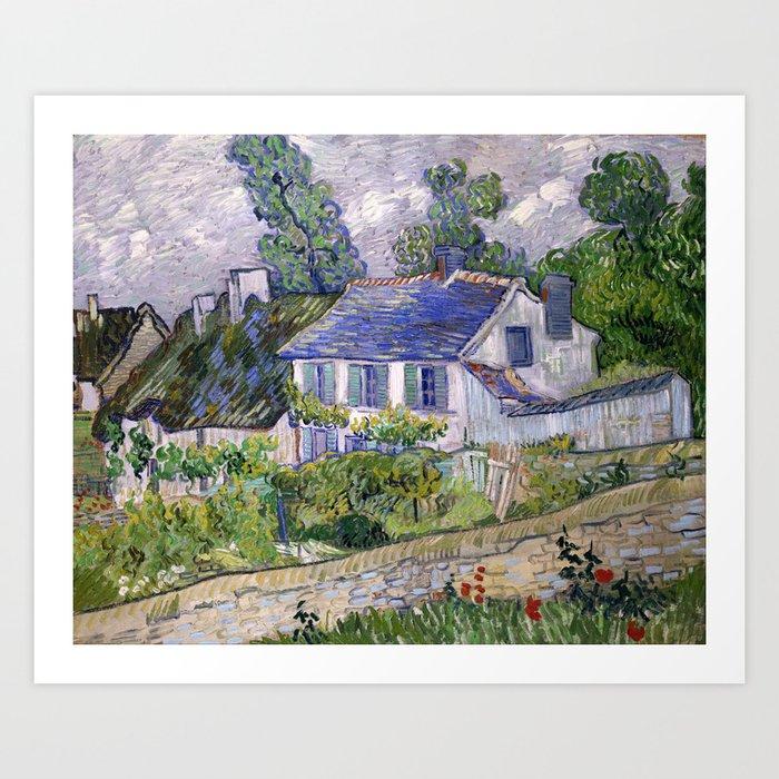 Vincent Van Gogh Houses At Auvers Kunstdrucke