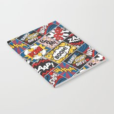 Modern Comic Book Superhero Pattern Color Colour Cartoon Lichtenstein Pop Art Notebook