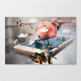 Birds Island by GEN Z Canvas Print