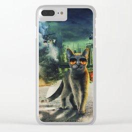 Adorable Dangerous Cat - The City Destroyer Clear iPhone Case