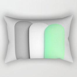 Tubes green Rectangular Pillow