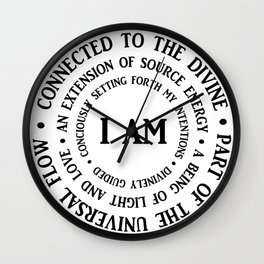 """I AM"" Mantra Wall Clock"