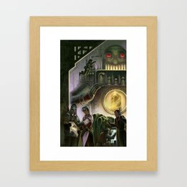 Steam Dungeons and Electric Treasure Framed Art Print