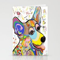 corgi Stationery Cards featuring Corgi by EloiseArt