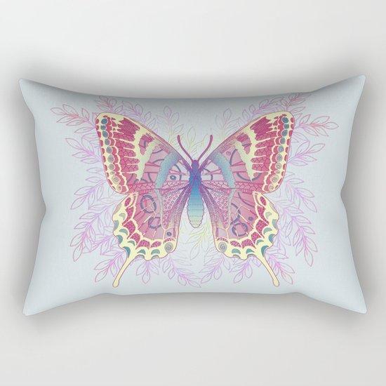 Beautiful Colorful Butterfly Design Rectangular Pillow